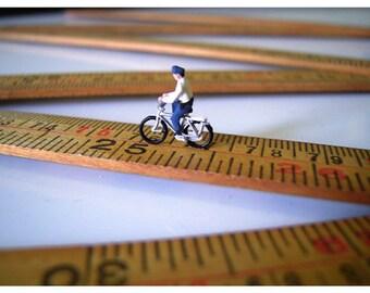 Cyclist - 6x4 Miniature Photography