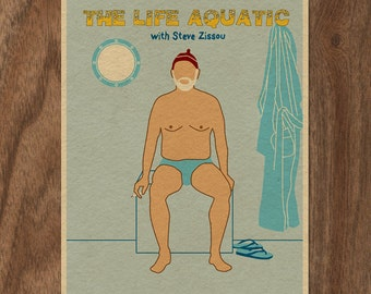 THE LIFE AQUATIC with Steve Zissou 16x12 Movie Poster Print - Version 2