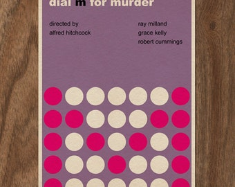Dial M for Murder 16x12 Minimalist Movie Poster Print