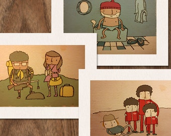 SALE - Set of 3 Wes Anderson Limited Edition Prints