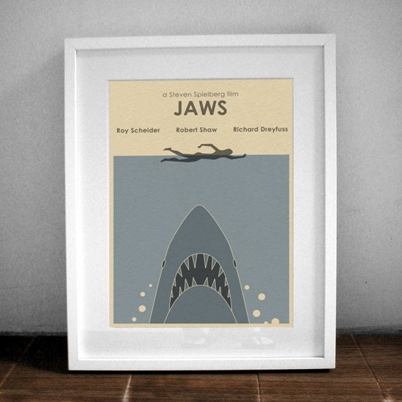 JAWS 16x12 Movie Poster - Shark Week