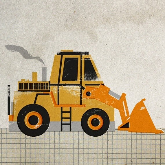6x6 Construction Machine Print - Wheel Loader II