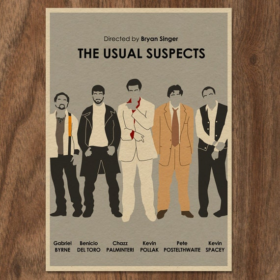 The Usual Suspects 16x12 Movie Poster