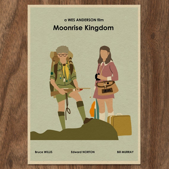 MOONRISE KINGDOM 16x12 Wes Anderson Movie Poster Print