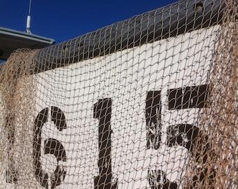 Vintage Mackeral Seine Fish Net Netting Seafood Market Decor Marine