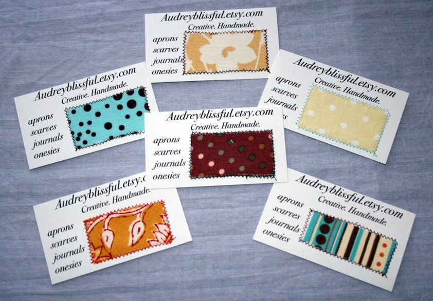 Your Etsy Business Cards Promotional Personalized Custom