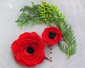 Set of 2 pcs Lollipop flower hair clips