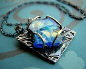 Ancient Treasures Fused Dichroic Glass and Silver Necklace