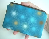 DEAL of the DAY 50% OFF -  Eco Friendly  Little Zipper pouch Coin Purse Gadget Case--Bay Teal (Padded)