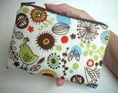 Zipper Pouch Little coin purse gadget case (Padded)  in Retro Thyme