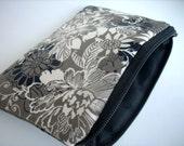 Zipper Coin Purse Little Zipper pouch Cosmetic Bag Case (Padded) - Putty Zephyr