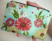 Zipper Pouch ECO FRIENDLY Little Coin Purse Padded Formosa Blue