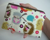 Hedgehog Meadow Little Zipper pouch Coin Purse Gadget Case ECO Friendly Padded