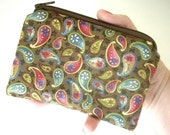SALE Dream Paisley Eco Friendly Little Zipper pouch Coin purse Gadget Case (Padded)