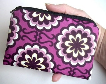 Purple Little Zipper Pouch Coin Purse ECO Friendly Fancy Purple Orchid