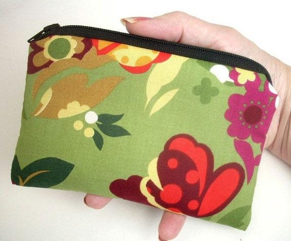LAST Chance SALE  50% OFF Zipper Pouch Little coin purse gadget case Eco Friendly Padded  Dill Garden