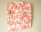 Raspberry pink and lilac vintage fabric clothespin peg bag eco friendly HALF PRICE