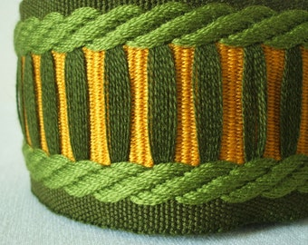 vintage woven fabric emerald twist trim 55mm wide 2 yards sale