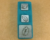 "1/2"" Leaves1 Ornamental Stamps by Melody Ross / Set of 3 / Use On Chipboard And Leather"