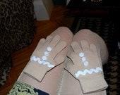 RESERVED for sxejennifersxe Gingerbread Gloves