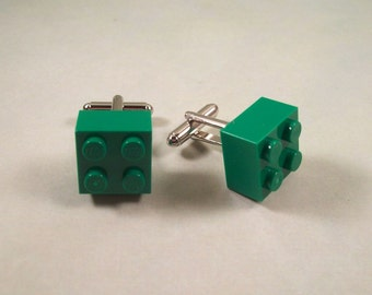 Green Building Brick Cuff Links
