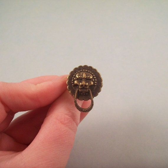 Lion Head Knocker Ring
