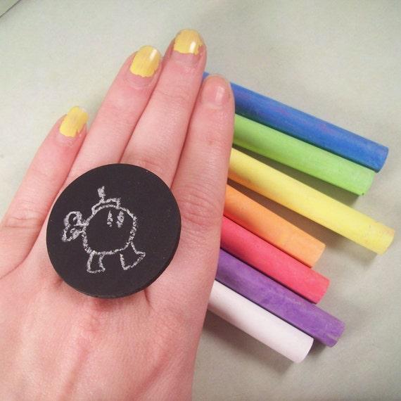Chalkboard Ring