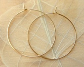 Hammered Hoops - Yellow gold-Filled 3""