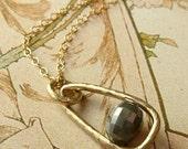 Oval Diamond Pendant - RESERVED