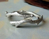 Silver Bypass Branch Ring