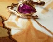 Pear Cut Gemstone Branch Ring - Deposit