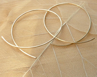 Rose Gold-Filled Loop Hoops - 3""
