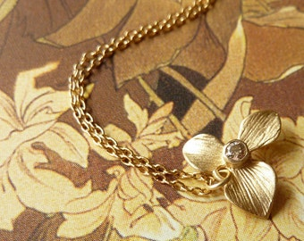Orchid and Champagne Diamond Necklace