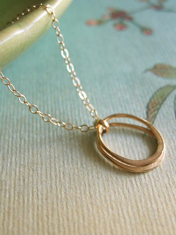 Organic Double Oval Necklace
