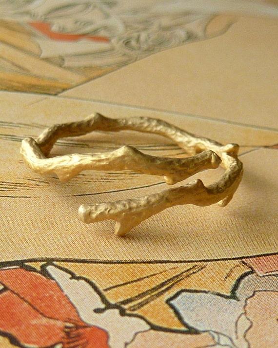 14k Gold Branch Ring