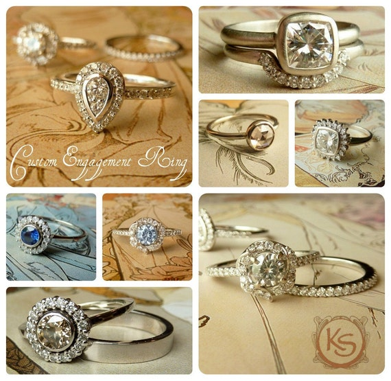 Silver and Gypsy Set Moissanite Band