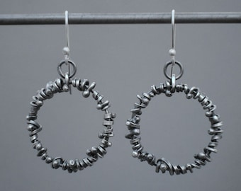Fringe Circle Earrings