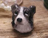 Border Collie Polymer Clay Pandora Dog Bead