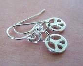 TEENY TINY PEACE - Sterling Silver Earrings