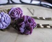 Purple Garden Bobbies