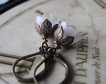 Flower Earrings, Vintage Inspired Wedding, Bridesmaid Gifts, Gifts For Her, Tulip Earrings