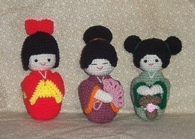 Crochet Pattern For Yoda Doll : Amigurumi Kokeshi Dolls PDF Crochet Pattern by ...