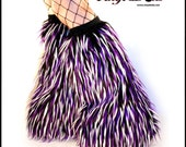 Monster Fur Boot Covers Go Go Fluffies Furry Leg Warmers White Purple Black