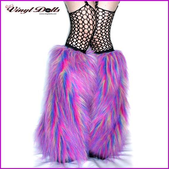 Furry Leg Warmers Rave Fluffies Ultra Violet By VinylDolls On Etsy