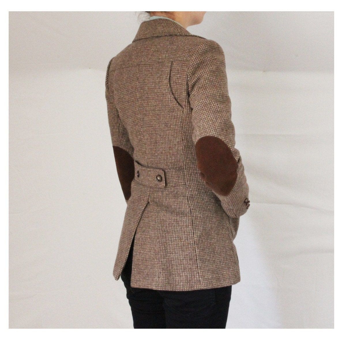 Womens tweed jacket with elbow patches