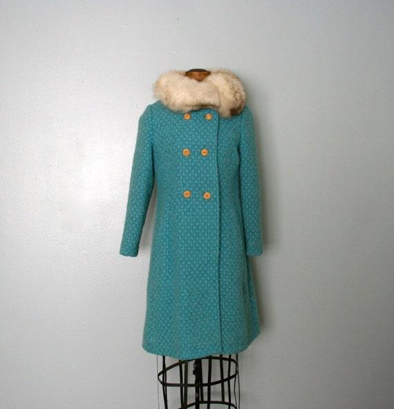 vintage . ice . blue . SILVER FOX . princess . coat