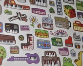 Toy Keyboard Poster - 11x17 - veg ink on 100 percent recycled paper