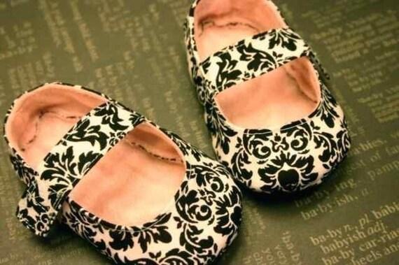 ebook baby shoes pdf pattern Bebe Mary Janes-PDF, eBook, ePattern, DIY, Tutorial