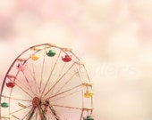 Karneval verträumt Ferris Wheel Großdruck 16 x 20 Sommerspass Rosa Bokeh bunten Raum Dekor