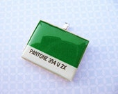 Pantone Color Chip 354U 2x Pendant